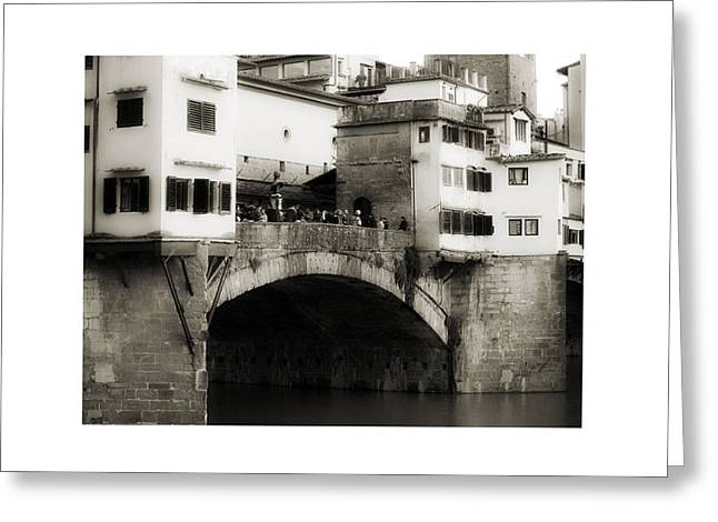 City Art Greeting Cards - Ponte Vecchio in Florence Greeting Card by Antonio Costa