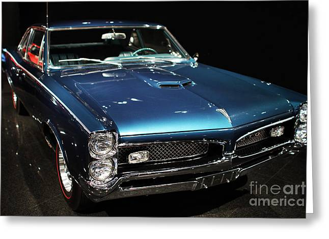Domestic Cars Greeting Cards - Pontiac GTO 2 Greeting Card by Wingsdomain Art and Photography