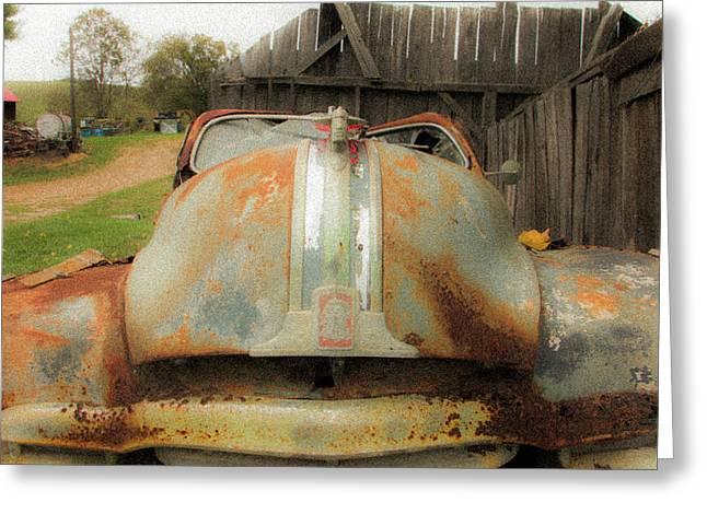 Pontiac Silver Streak Sedan Greeting Card by Edie Ann Mendenhall
