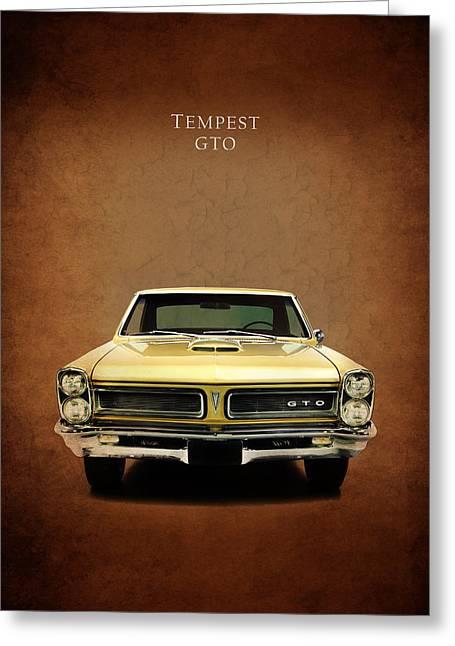 Pontiac Gto Greeting Cards - Pontiac Tempest GTO Greeting Card by Mark Rogan