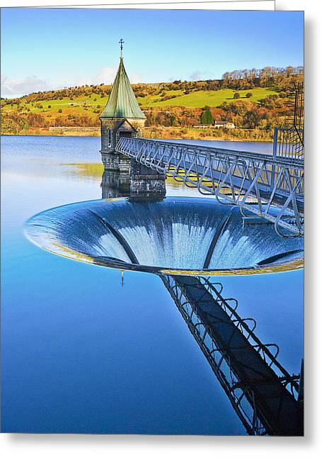 Welsh Reservoirs Greeting Cards - Pontsticill Reservoir Greeting Card by Hazel Powell