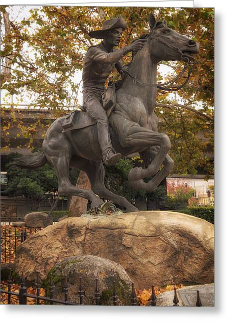 Express Greeting Cards - Pony Express Statue - Sacramento Greeting Card by Mountain Dreams