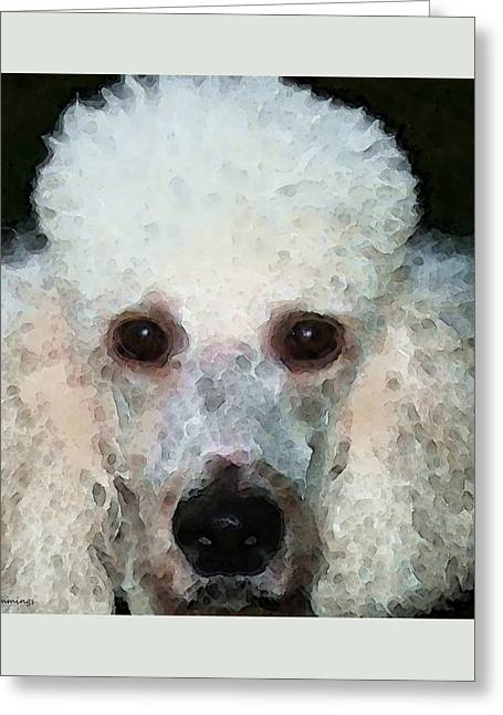 Buy Dog Art Greeting Cards - Poodle Art - Noodles Greeting Card by Sharon Cummings