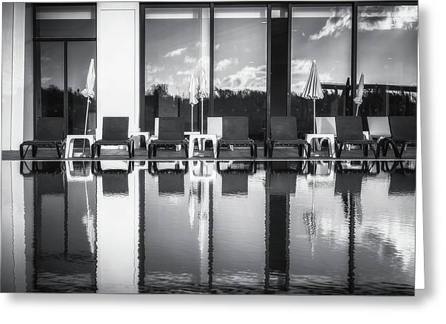 Pool Photography Greeting Cards - Pool reflections Greeting Card by Chris Fletcher
