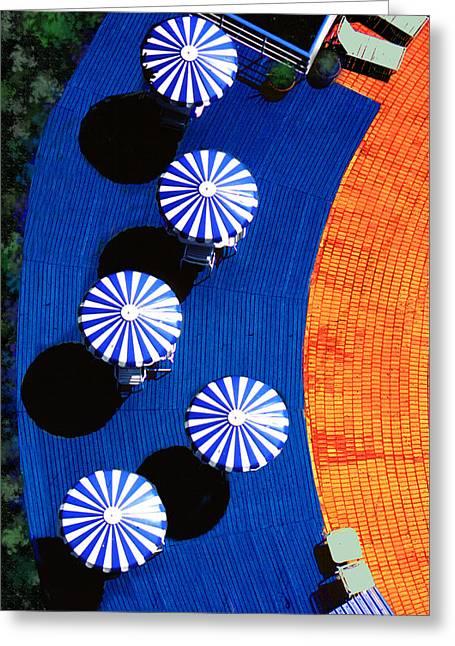 Lounge Digital Greeting Cards - Pool Side Greeting Card by Paul Wear