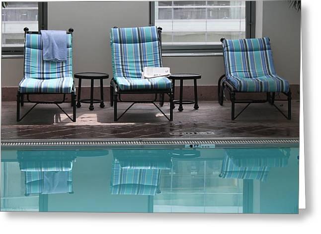 Pool Time Greeting Card by Lauri Novak