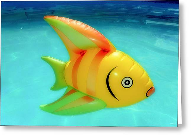 Inflatable Greeting Cards - Pool Toy Greeting Card by Tony Grider