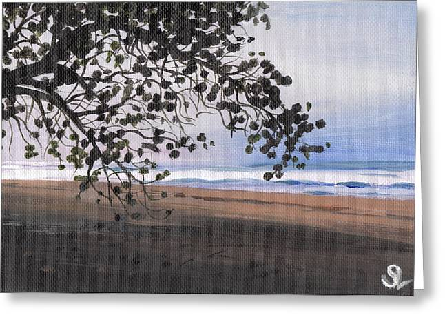 Puerto Rico Greeting Cards - Pools Beach Greeting Card by Sarah Lynch