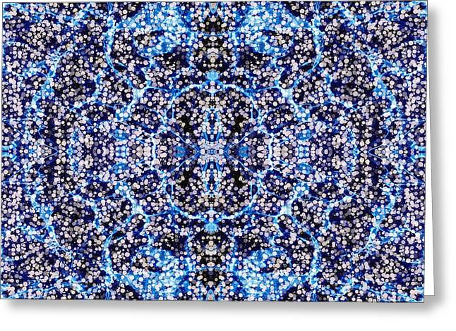 Abstract Design Tapestries - Textiles Greeting Cards - Poolside Dreamings Greeting Card by Suzi Freeman