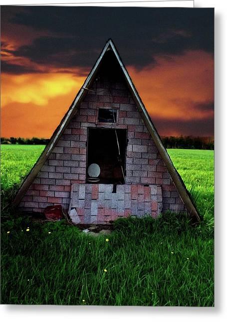 Eerie Greeting Cards - Poor Mans Pyramid Greeting Card by Jamie Holbrook