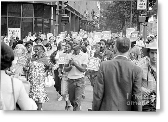 March On Washington Greeting Cards - Poor Peoples March, 1968 Greeting Card by Granger