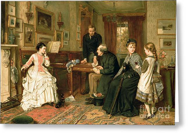 Charity Paintings Greeting Cards - Poor Relations Greeting Card by George Goodwin Kilburne