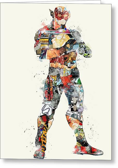 Pop Art Flash Greeting Card by Bri B