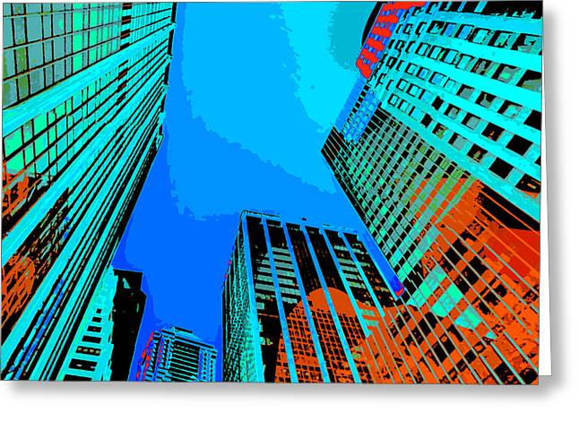 Times Square Digital Greeting Cards - Pop Art NYC 5 Greeting Card by David G Paul