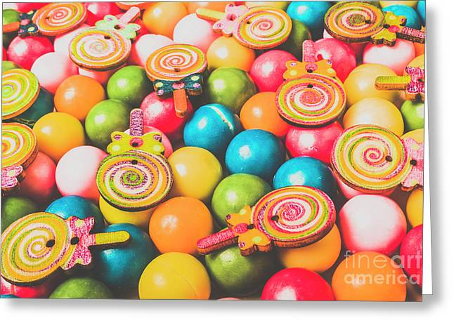 Pop Art Sweets Greeting Card by Jorgo Photography - Wall Art Gallery