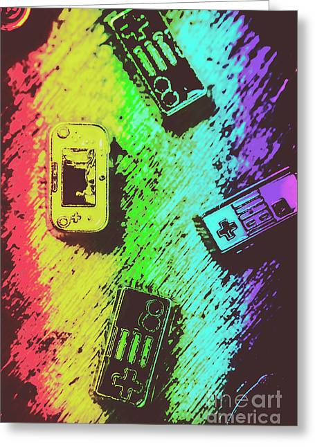 Pop Art Video Games Greeting Card by Jorgo Photography - Wall Art Gallery