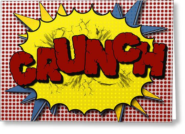 Pop CRUNCH Greeting Card by Suzanne Barber