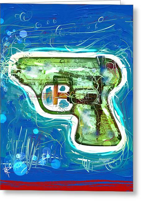Clean Water Mixed Media Greeting Cards - Pop Pistol Greeting Card by Russell Pierce