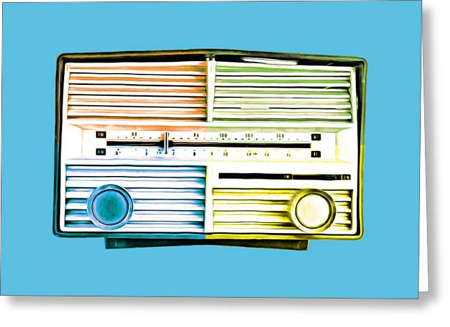 Shirt Digital Greeting Cards - Pop Radio Tee Greeting Card by Edward Fielding