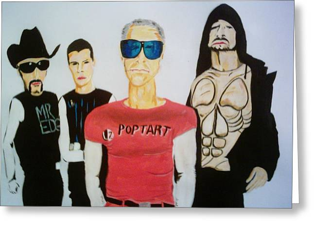 U2 Paintings Greeting Cards - Pop Tart Greeting Card by Colin O neill
