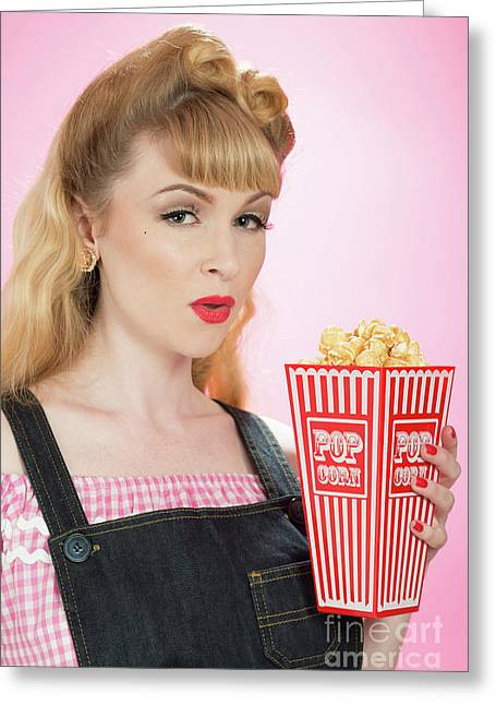 Popcorn Greeting Card by Amanda And Christopher Elwell