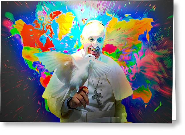 Francis Greeting Cards - Pope Francis 12 06 2015 Greeting Card by Algirdas Lukas