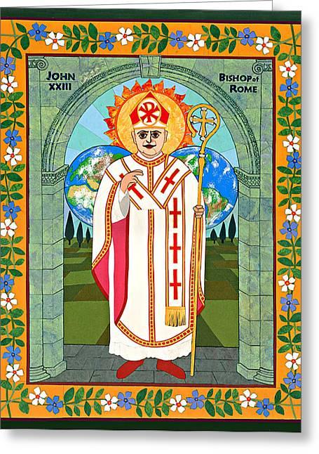 Pope John Xxiii Icon Greeting Card by David Raber