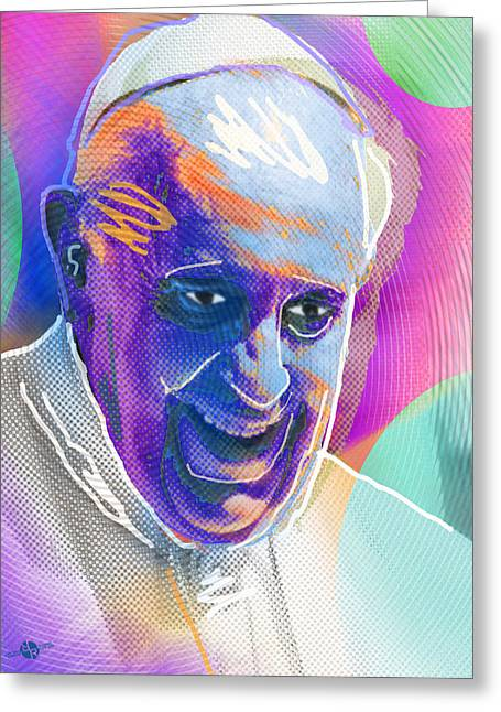Testament Greeting Cards - Pope Pop 3 Greeting Card by Tony Rubino