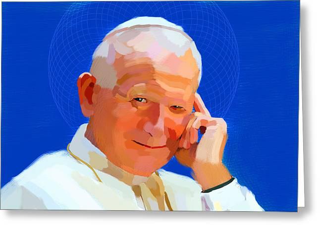 Pope Saint John Paul II Greeting Card by Maciej Mackiewicz