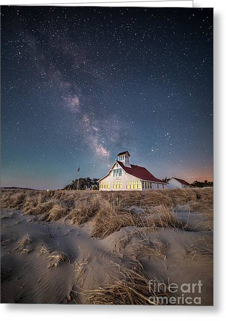Beach Scenery Greeting Cards - Popham Beach Life Saving Station Greeting Card by Benjamin Williamson