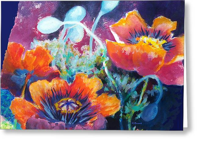 Poppies 2.2 Greeting Card by Kathy Braud