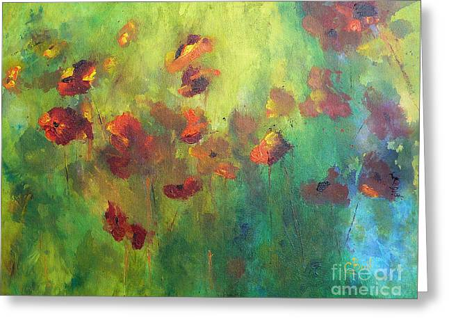 Cbull Greeting Cards - Poppies Greeting Card by Claire Bull