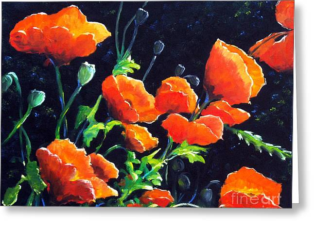 Flowers Direct Greeting Cards - Poppies in the light Greeting Card by Richard T Pranke