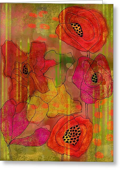 Poppies Greeting Card by Lisa Noneman