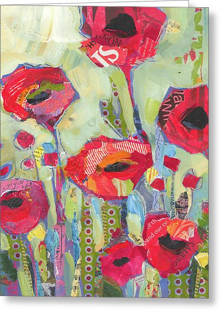 Poppies No 5 Greeting Card by Shelli Walters