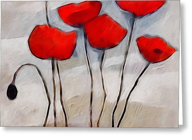 Poppies Painting Greeting Card by Lutz Baar