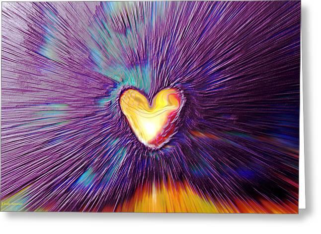 Google Digital Greeting Cards - Popping Passion Greeting Card by Linda Sannuti