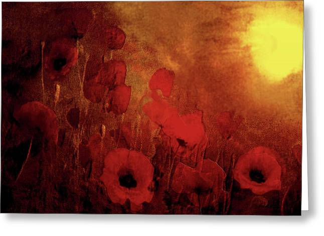 Valzart Greeting Cards - Poppy heaven Greeting Card by Valerie Anne Kelly