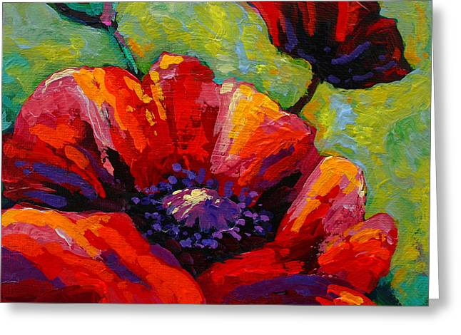 Poppy I Greeting Card by Marion Rose