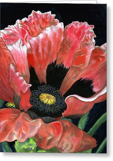 Oriental Poppy Greeting Cards - Poppy Greeting Card by Karen Wright