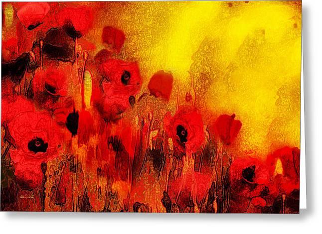 Valerie Anne Kelly Art Greeting Cards - Poppy reverie Greeting Card by Valerie Anne Kelly