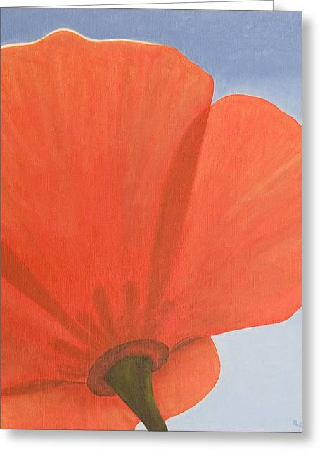 Photorealism Greeting Cards - Poppy Greeting Card by Rob De Vries