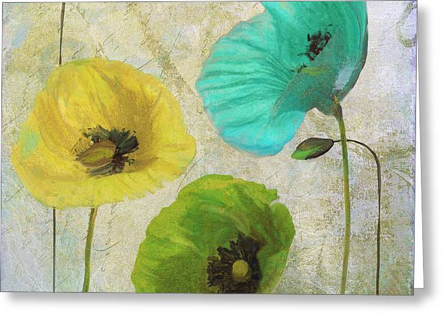 Poppy Shimmer I Greeting Card by Mindy Sommers