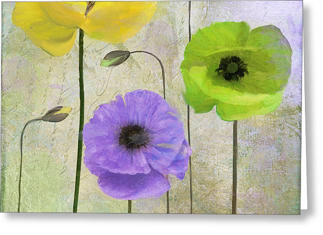 Himalayan Greeting Cards - Poppy Shimmer II Greeting Card by Mindy Sommers