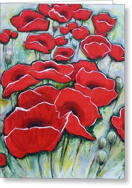 Poppylarity Contest IIi Greeting Card by Sheila Diemert