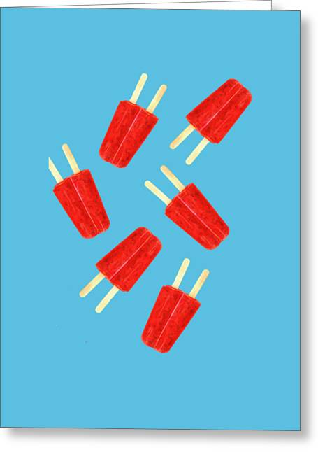Popsicle T-shirt Greeting Card by Edward Fielding
