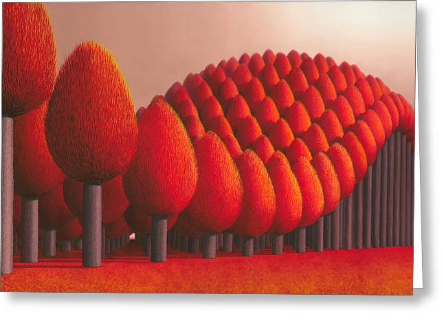 Tree Surreal Greeting Cards - Populus Flucta Greeting Card by Patricia Van Lubeck