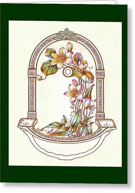 Mahogany Mixed Media Greeting Cards - Porcelain Wash Basin One Greeting Card by Eric Kempson