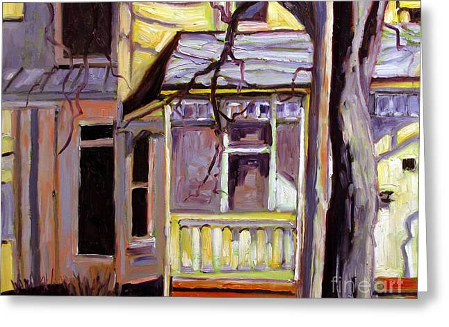 Porch Alight With The Sun Greeting Card by Charlie Spear