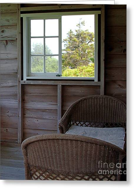Daybed Greeting Cards - Porch Daybed Greeting Card by Georgia Sheron